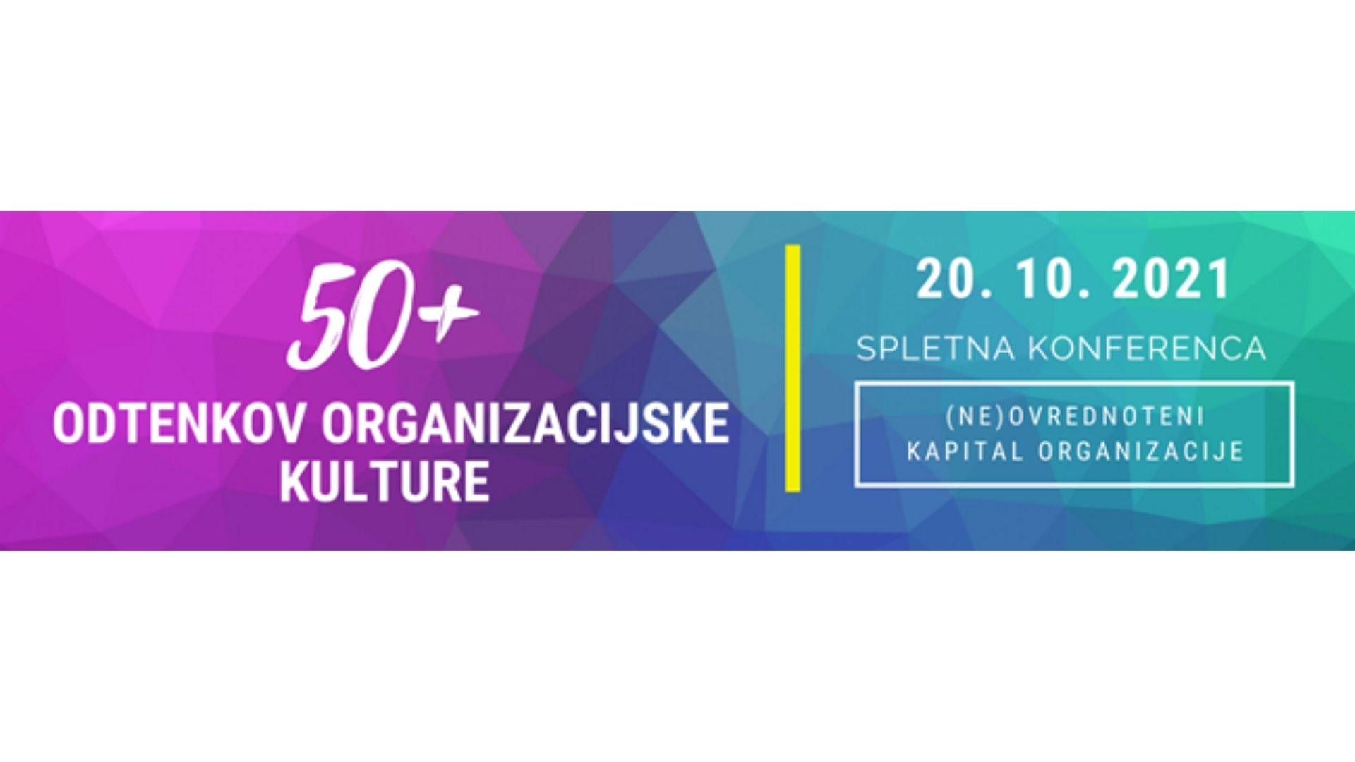 Spletna konferenca 50+ odtenkov organizacijske kulture - logotip